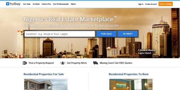 Hutbay website screenshot
