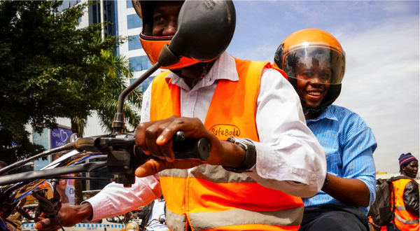 SafeBoda connects customers with drivers that have been trained in road safety, customer service, motorbike maintenance and first aid through a partnership with the Ugandan Red Cross.