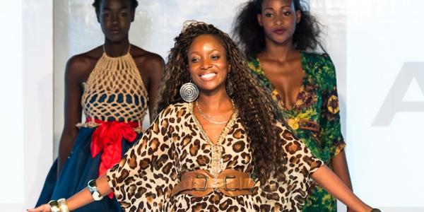 Malawian fashion designer Lilly Alfonso at Africa Fashion Week London 2012.