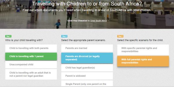 Drive South Africa has recently introduced a mobile and web app to help travellers navigate South Africa's new child visa regulations.