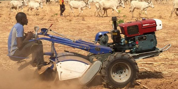 Through its Smart Tractor, the Hello Tractor platform gives small landowners access to affordable farm machine services to increase their productivity.