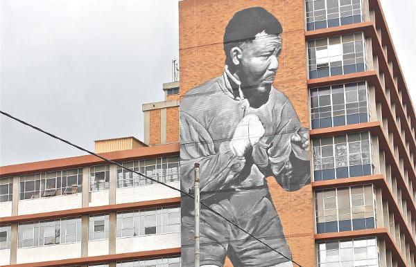 __I am because we are __Mandela tribute mural 2014