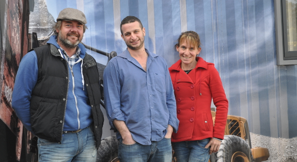 From left to right: Jason Maydew, Brad Berman and Alicia Kalil. In addition to converting shipping containers into low-cost homes, Berman-Kalil Housing Concepts also offers a variety of other solutions, such as portable offices suitable for the mining industry.