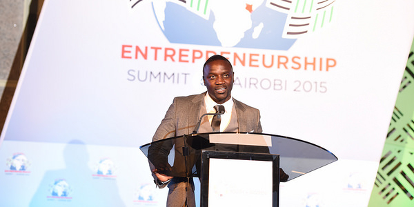"""""""There is this famous saying that it takes money to make money. But in actuality, in my eyes, it really doesn't. It takes brains, a lot of drive and support,"""" says Akon. He recently attended the Global Entrepreneurship Summit held in Nairobi."""