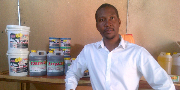Mutoba Ngoma is the entrepreneur behind Tapera Industries, a company that produces biodiesel and organic soap in Zambia.