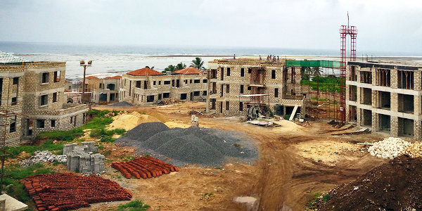 The Sultan Palace Beach Retreat under construction