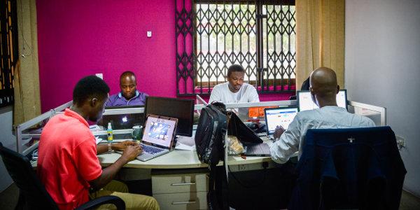 A Ringier office in Ghana