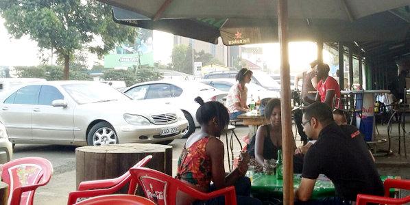 A restaurant in Nairobi, Kenya