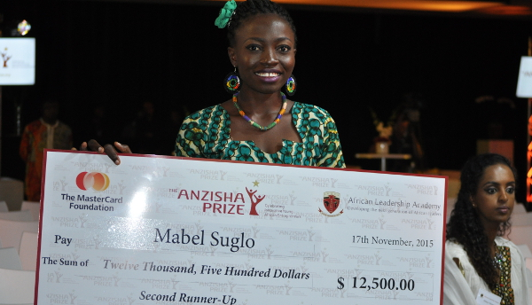 In November Mabel Suglo was named the 2015 second runner up of the Anzisha Prize, Africa's premier award for young entrepreneurs. The title came with a US$12,500 injection into her company.