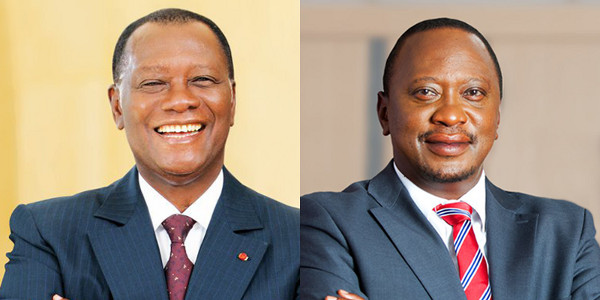 Alassane Ouattara, President of the Republic of Côte d'Ivoire and Uhuru Kenyatta, President of the Republic of Kenya
