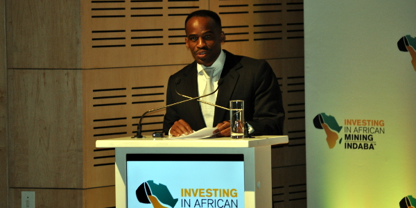 Kgosi Leruo Molotlegi, King of the Royal Bafokeng Nation, speaking at the 2016 Investing in African Mining Indaba in Cape Town.