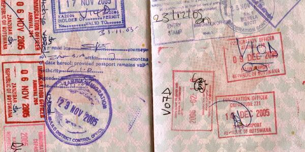 African passport stamps visa 600x300