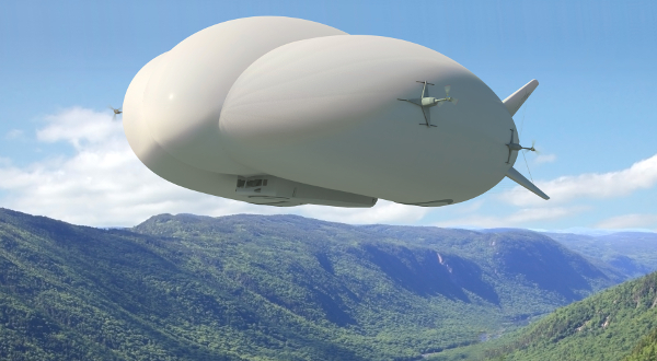 Lockheed Martin's Hybrid Airship can be used to transport heavy cargo to and from hard-to-reach locations, and is being targeted at the mining industry.