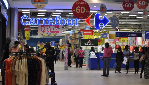 The first Carrefour outlet to open in Côte d'Ivoire.