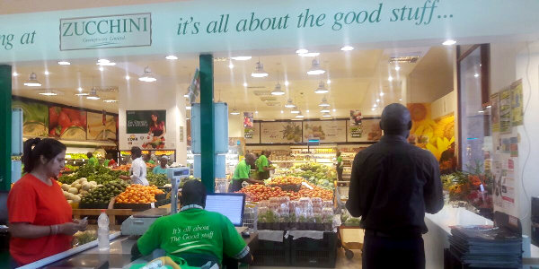 A Zucchini Greengrocers outlet in Nairobi