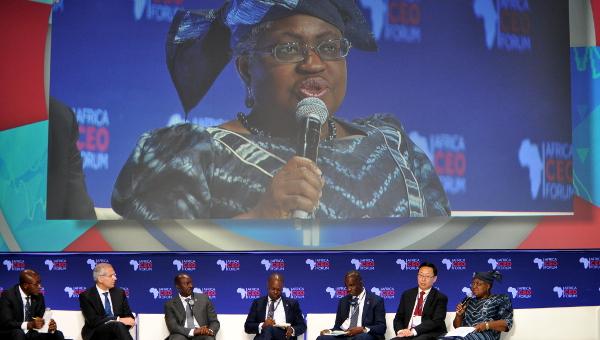 Ngozi Okonjo-Iweala, former finance minister of Nigeria, speaking at the 2016 Africa CEO Forum