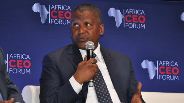 """""""I think this is the greatest time for somebody – for any company – to actually move in and invest,"""" says Aliko Dangote at the 2016 Africa CEO Forum in Abidjan."""