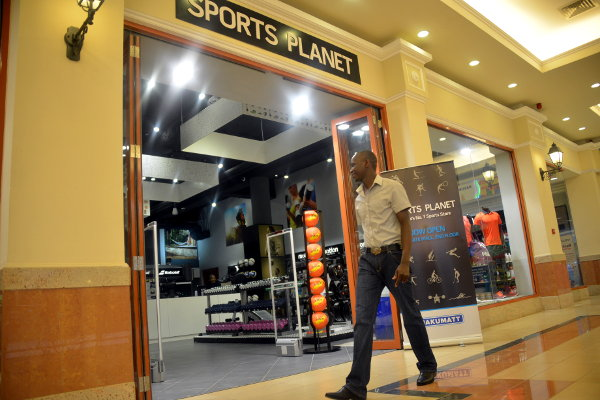 Nakumatt's Sports Planet outlet at the Westgate shopping mall in Nairobi