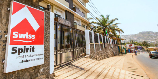 A Swiss International hotel in Freetown, Sierra Leone