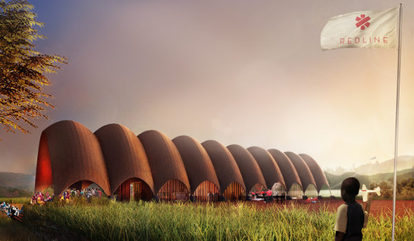 Artist's impression: Droneport exterior view. Picture supplied by Foster + Partners.