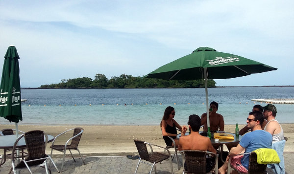 Relaxing next to the beach at Sipopo, situated on Bioko Island, Equatorial Guinea. The country's tourism potential has to date remained largely untapped.