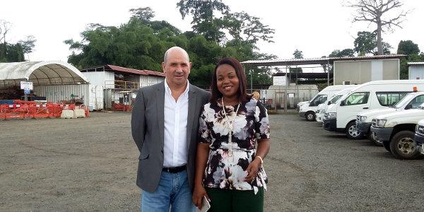Tony Meakin and Marisol Nchama