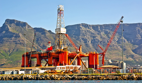 Oil rig in Cape town.