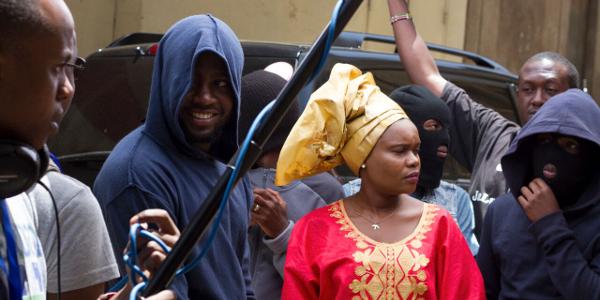 Shooting Tuko Macho on the streets of Nairobi.