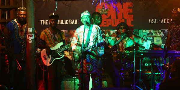 Live music in Accra, Ghana