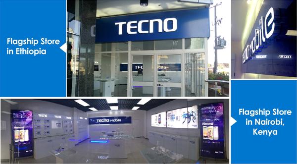 TECNO flagship stores in Ethiopia and Kenya
