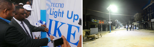 TECNO Light Up Ikeja project