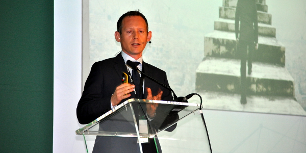 Izak Odendaal, investment strategist for Old Mutual Multi-Managers, speaking at the Old Mutual Corporate 2016 Investment Mindspace in Cape Town on Thursday.
