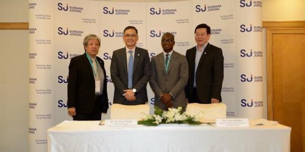 Left to Right: Er. Louis Tey (MD, Africa – SJ), Tee Eng Cheeng (CEO, International – SJ), Franck Behiblo (Head of Corporate Development – Quantum Global), Tee Say Hong (Group Director, GCEO's Office – SJ)