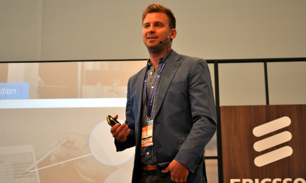 Bevan Ducasse, founder of wiGroup, speaking at AfricaCom.