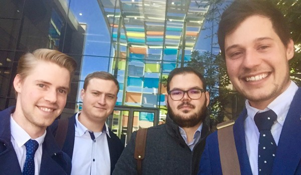 Cognition.Online founders, from left to right: Wihan Horn, Corneil Clasen, Waldo Boshoff, Kyle Dodds