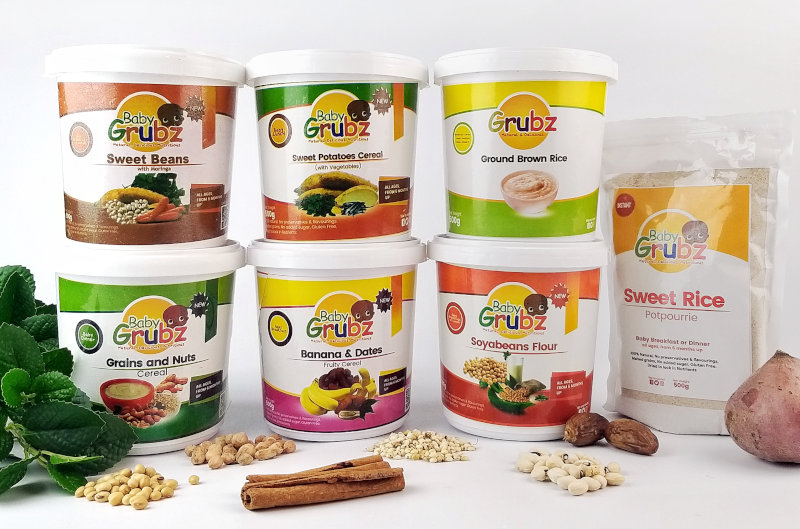 A selection of Baby Grubz products.