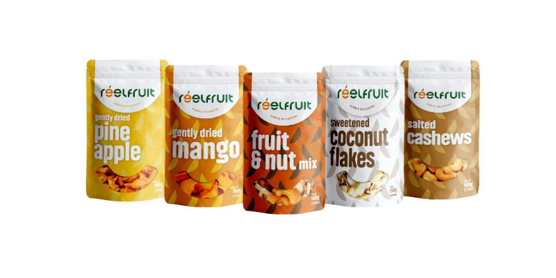A selection of ReelFruit products.