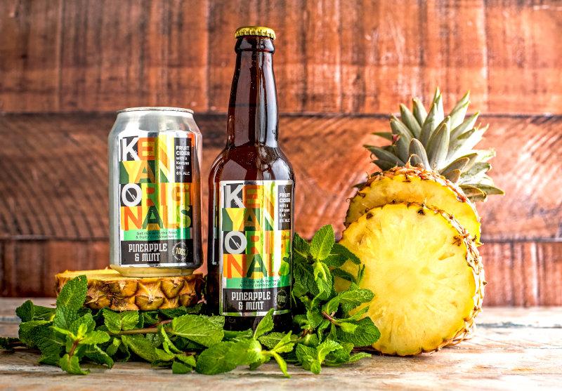 Kenyan Originals pineapple and mint craft cider