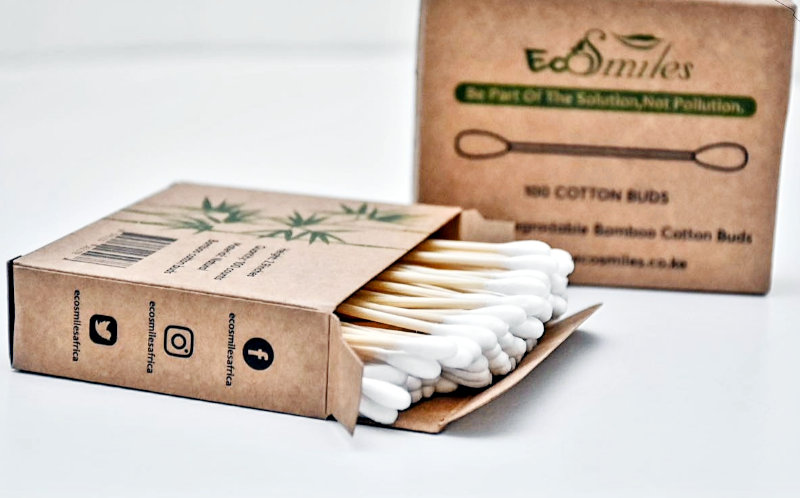 The company's cotton buds are also made from bamboo.