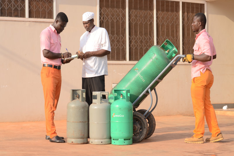 XpressGas delivers LPG to households and commercial kitchens throughout Ghana.