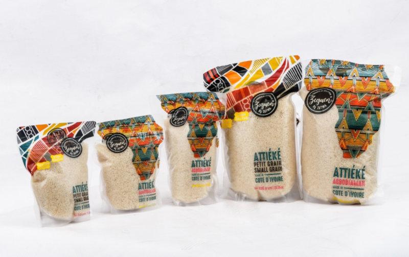 Citrine manufactures packaged cassava couscous (attiéké).