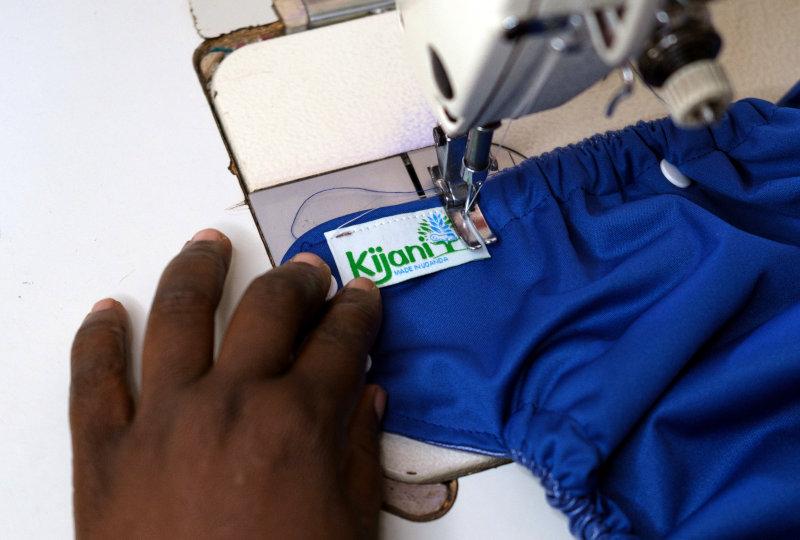 Kijani diapers are manufactured in Uganda.