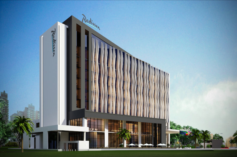 A rendering of the the planned Radisson Hotel Djibouti.