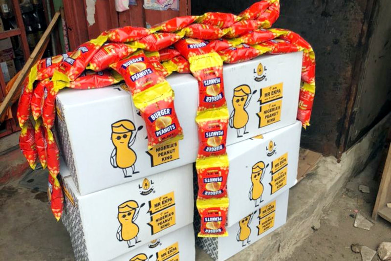 Mr Ekpa products are distributed to tens of thousands of small mom-and-pop stores throughout Nigeria.