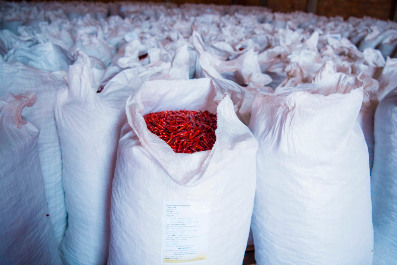 Gashora Farm exports a variety of chilli products.