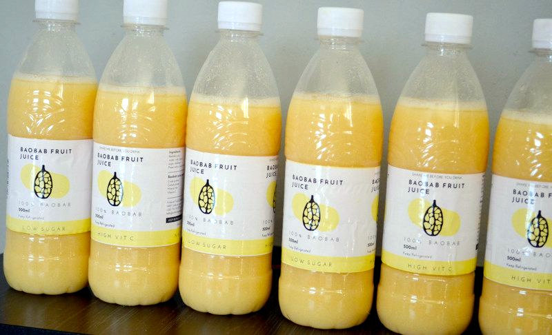 Artisanal Foods' baobab fruit juice.