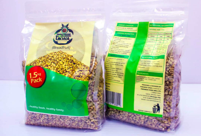 Dried ukwa produced by Phronesis Foods.